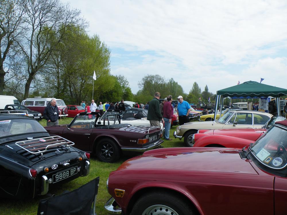 Gathering of WF cars (AKA a Thunder of Triumphs)
