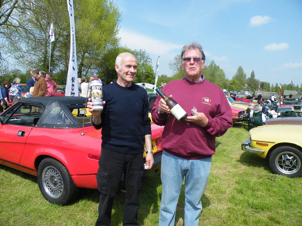 Frank & Andy raffle prize winners