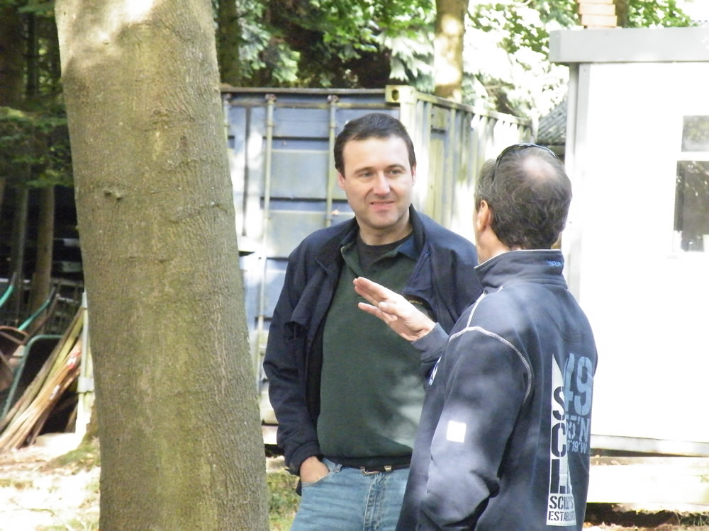 Graham and Steve discussing trees