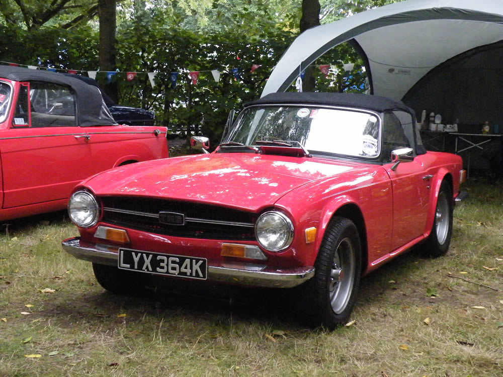 Some bunting (and a TR6)