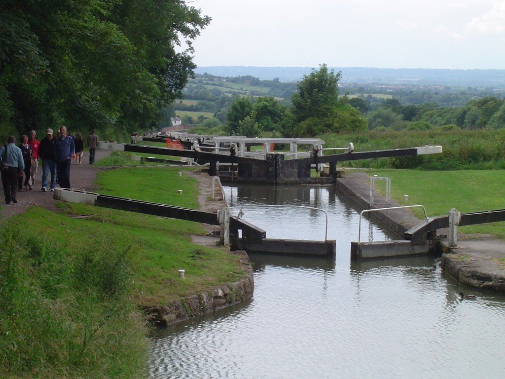 At the top of the Caen locks. Once the wheezing has stopped you can then walk back down again