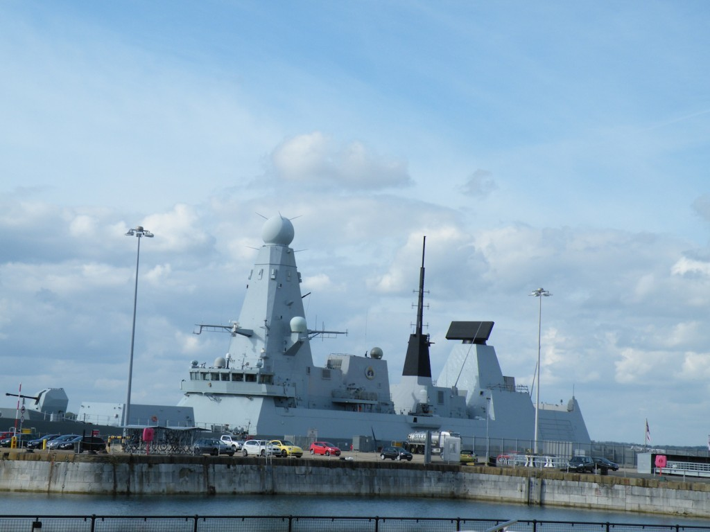 HMS Daring - apparently a type 45 Destroyer
