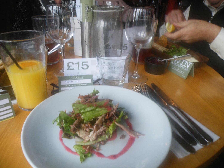 Guinea fowl salad