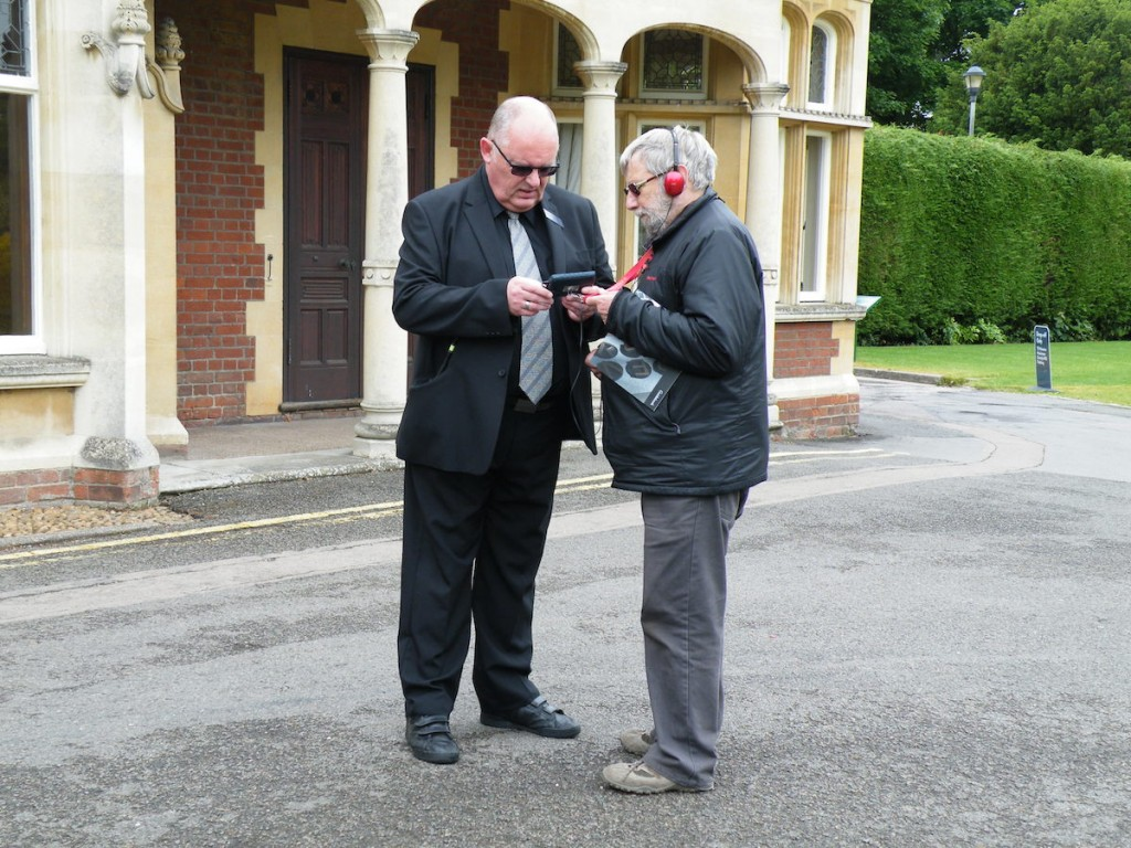 Elderly gentleman confused with technology asks Dave for help
