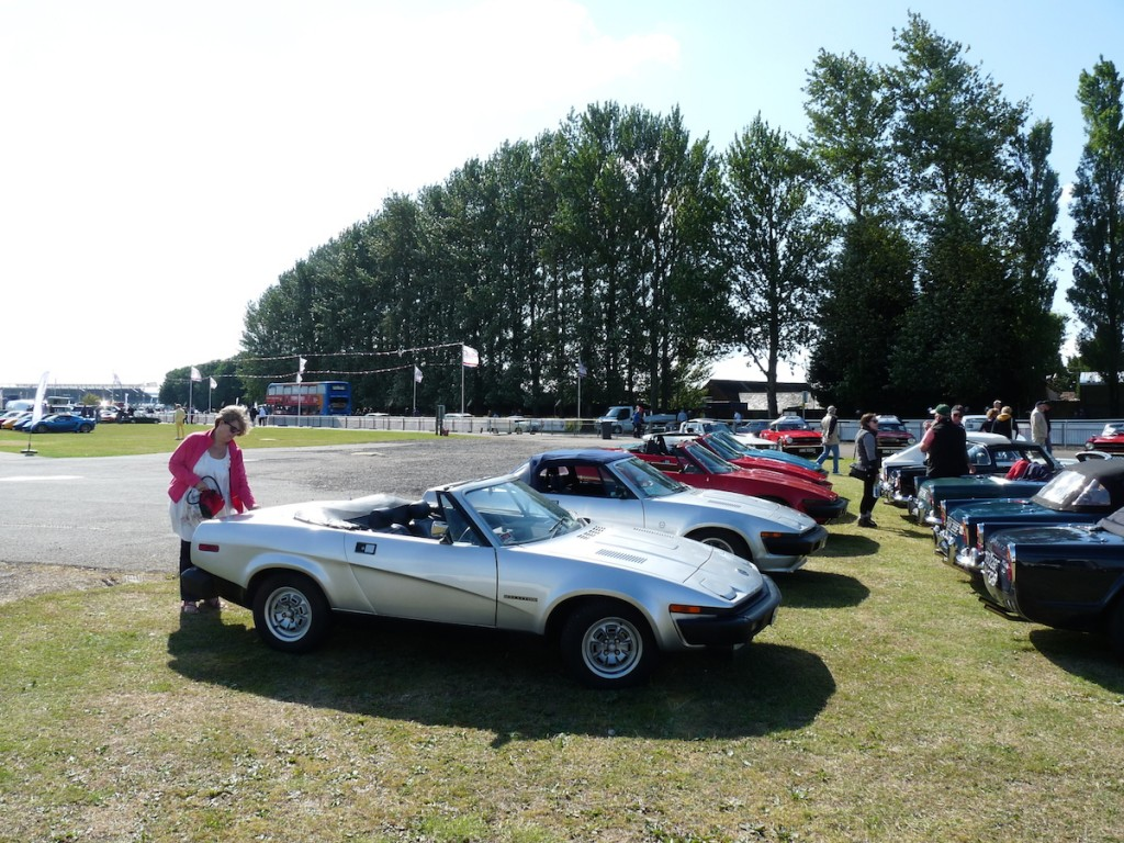 A young and sprightly TR7 owner