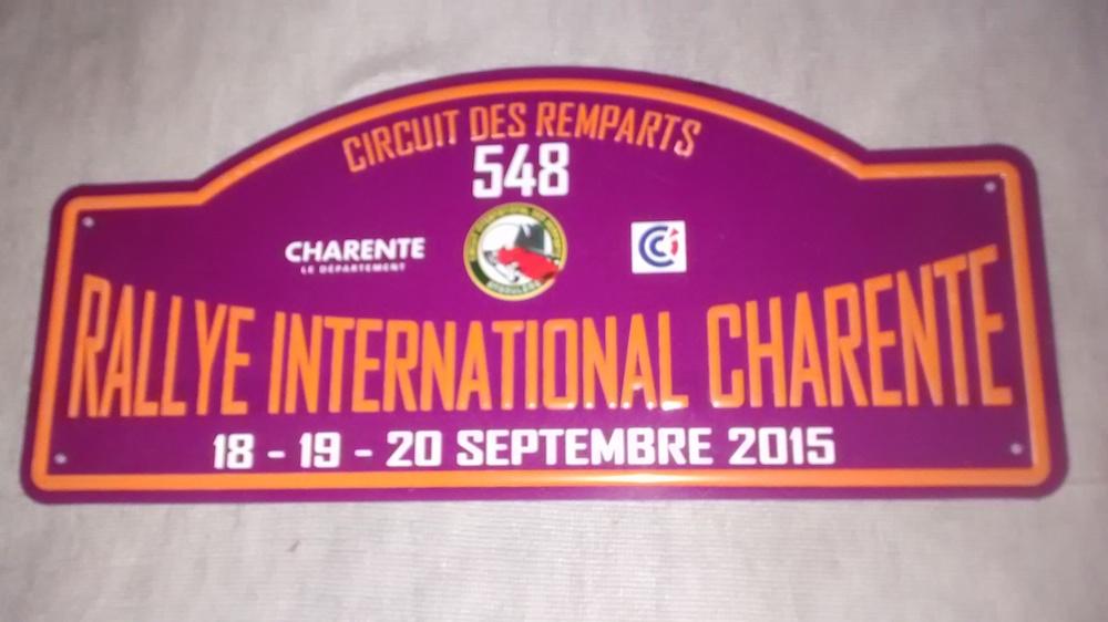 Angouleme Rally Plaque