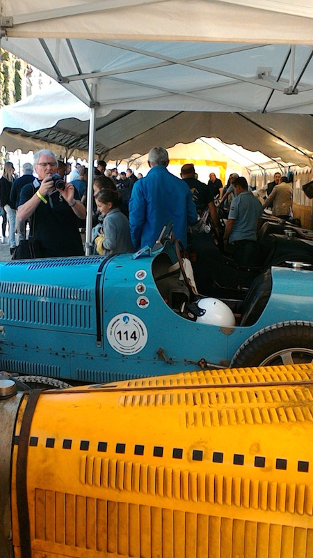 Bugattis in the Padock