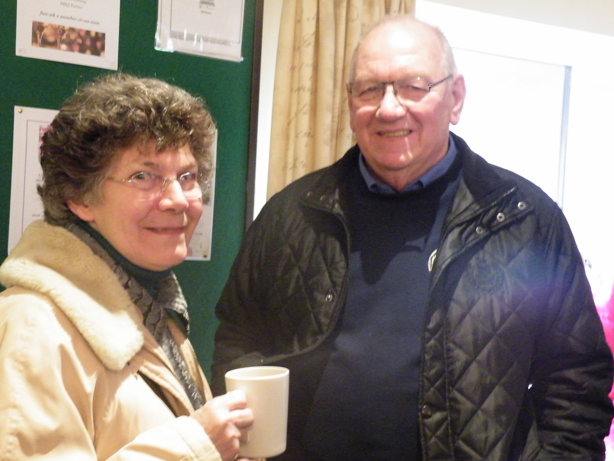 Chris and Vivienne Cunnington and coffee