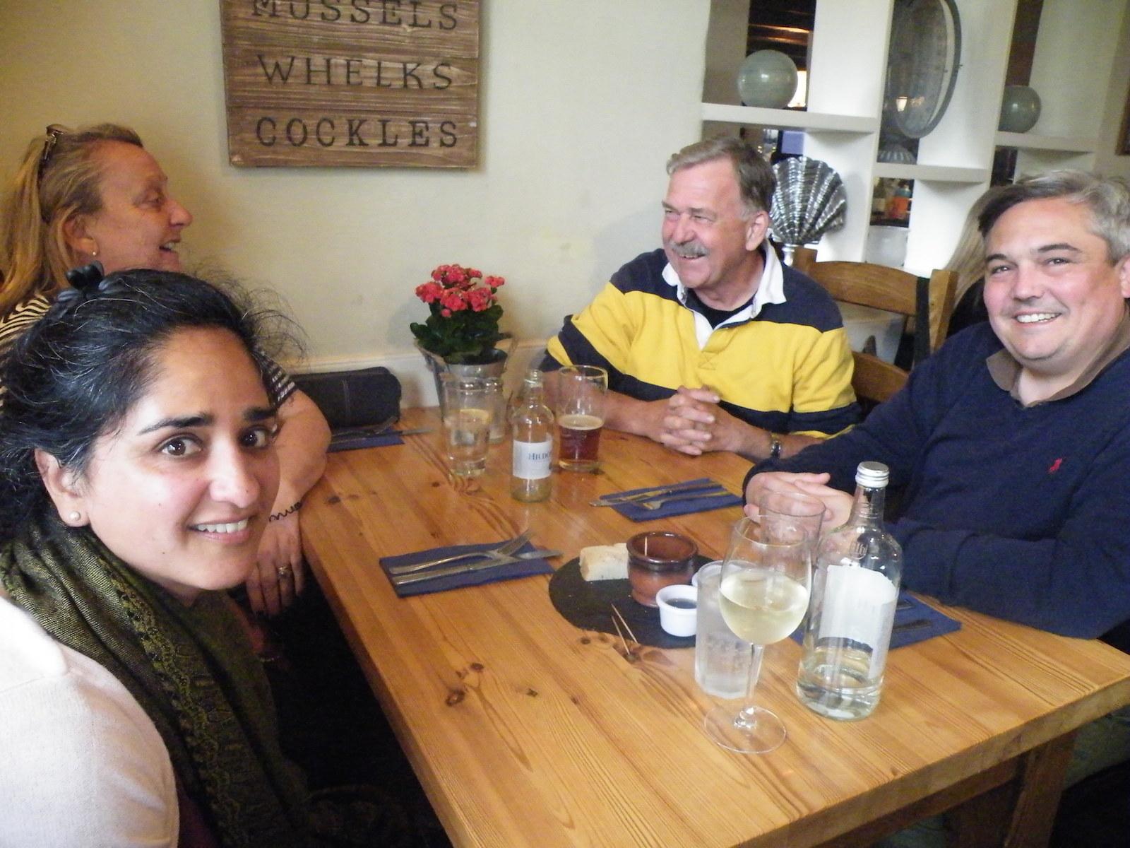 Smita, Pat, Roger and Christophe