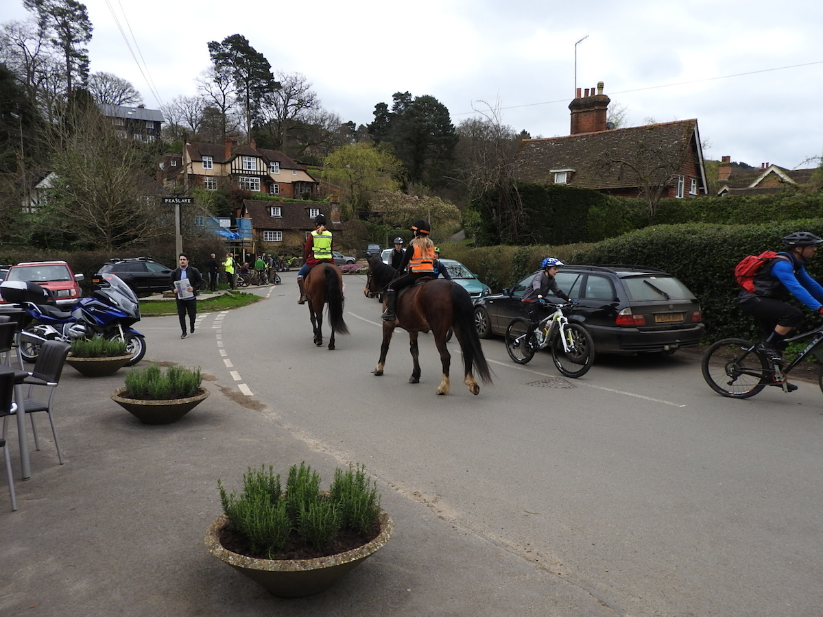 Everywhere we went there was 'orses and pushbikes